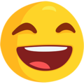Smiling Face With Open Mouth & Smiling Eyes on Messenger 1.0