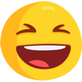 Smiling Face With Open Mouth & Closed Eyes on Messenger 1.0
