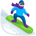 Snowboarder: Light Skin Tone on Messenger 1.0