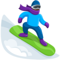Snowboarder: Dark Skin Tone on Messenger 1.0