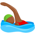 Person Swimming: Medium-Dark Skin Tone on Messenger 1.0