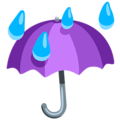 Umbrella With Rain Drops on Messenger 1.0
