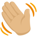 Waving Hand: Medium-Light Skin Tone on Messenger 1.0