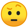Face With Raised Eyebrow on Google Android O Beta