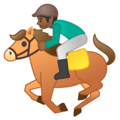 Horse Racing: Medium-Dark Skin Tone on Google Android O Beta
