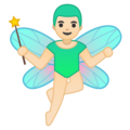 Man Fairy: Light Skin Tone on Google Android O Beta