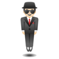 Man in Business Suit Levitating: Light Skin Tone on Google Android O Beta