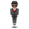 Man in Business Suit Levitating: Medium Skin Tone on Google Android O Beta