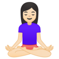 Person in Lotus Position: Light Skin Tone on Google Android O Beta