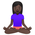 Person in Lotus Position: Dark Skin Tone on Google Android O Beta