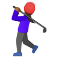 Woman Golfing: Medium-Dark Skin Tone on Google Android O Beta