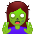 Woman Zombie on Google Android O Beta