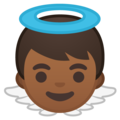 Baby Angel: Medium-Dark Skin Tone on Google Android 8.0