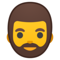 Bearded Person on Google Android 8.0