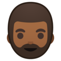 Bearded Person: Medium-Dark Skin Tone on Google Android 8.0