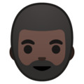 Bearded Person: Dark Skin Tone on Google Android 8.0