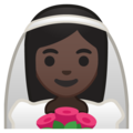 Bride With Veil: Dark Skin Tone on Google Android 8.0