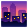 Cityscape at Dusk on Google Android 8.0