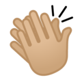 Clapping Hands: Medium-Light Skin Tone on Google Android 8.0