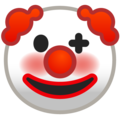 Clown Face on Google Android 8.0