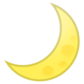 Crescent Moon on Google Android 8.0