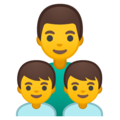 Family: Man, Boy, Boy on Google Android 8.0