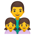 Family: Man, Girl, Girl on Google Android 8.0