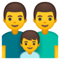 Family: Man, Man, Boy on Google Android 8.0