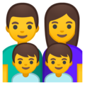 Family: Man, Woman, Boy, Boy on Google Android 8.0