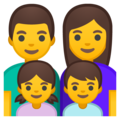 Family: Man, Woman, Girl, Boy on Google Android 8.0
