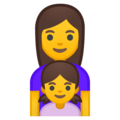 Family: Woman, Girl on Google Android 8.0