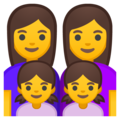 Family: Woman, Woman, Girl, Girl on Google Android 8.0