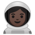 Woman Astronaut: Dark Skin Tone on Google Android 8.0