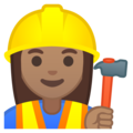 Woman Construction Worker: Medium Skin Tone on Google Android 8.0
