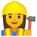 Woman Construction Worker on Google Android 8.0