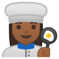 Woman Cook: Medium-Dark Skin Tone on Google Android 8.0