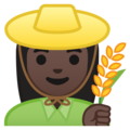 Woman Farmer: Dark Skin Tone on Google Android 8.0