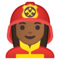 Woman Firefighter: Medium-Dark Skin Tone on Google Android 8.0