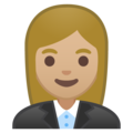 Woman Office Worker: Medium-Light Skin Tone on Google Android 8.0