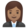 Woman Office Worker: Medium Skin Tone on Google Android 8.0