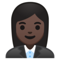 Woman Office Worker: Dark Skin Tone on Google Android 8.0