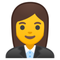 Woman Office Worker on Google Android 8.0