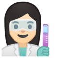 Woman Scientist: Light Skin Tone on Google Android 8.0