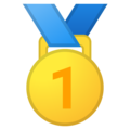1st Place Medal on Google Android 8.0