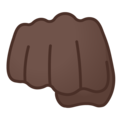 Oncoming Fist: Dark Skin Tone on Google Android 8.0