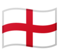 Flag for England (GB-ENG) on Google Android 8.0