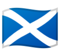 Flag for Scotland (GB-SCT) on Google Android 8.0