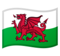 Flag for Wales (GB-WLS) on Google Android 8.0