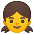 Girl on Google Android 8.0