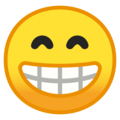 Grinning Face With Smiling Eyes on Google Android 8.0